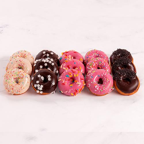 Gevarieerde Mini Donuts (15 stuks)
